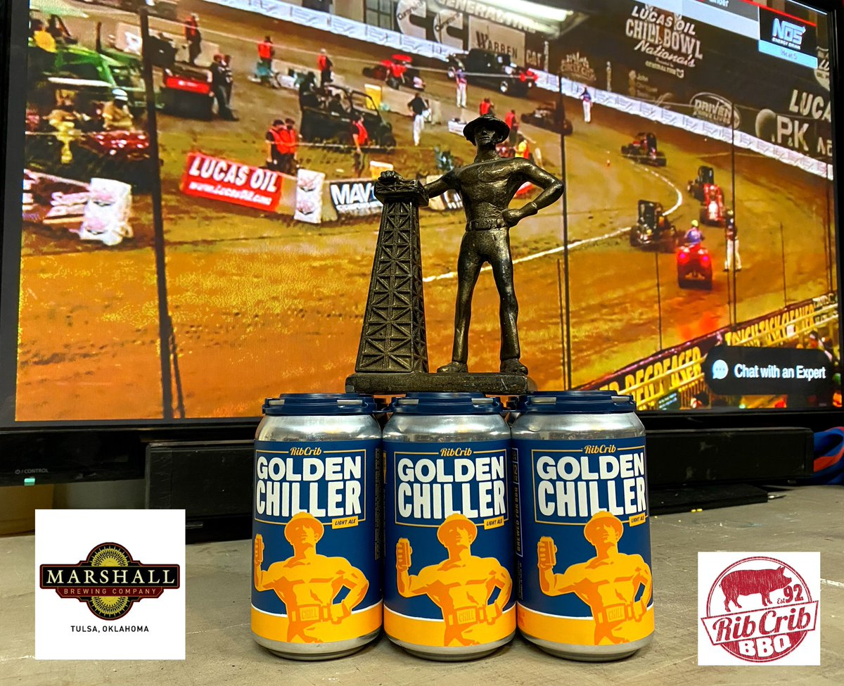 Golden Chiller for the @cbnationals by @RibCrib & @MarshallBrewing of Tulsa. #GoldenDriller  🎥 @FloRacing if ya don't have it, get it