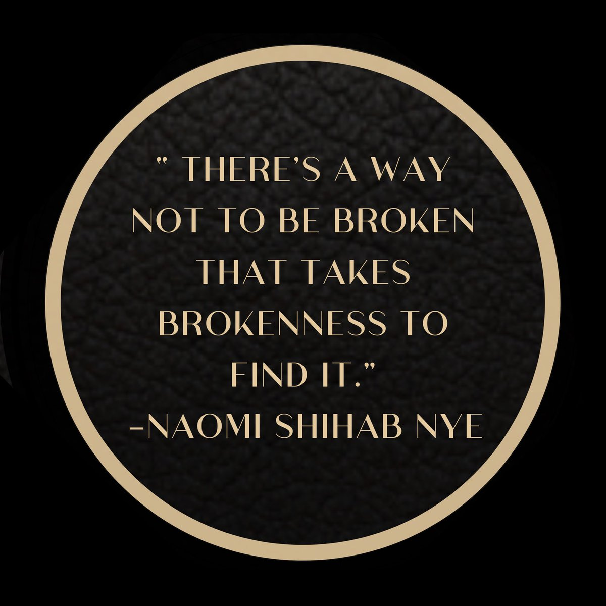 Reminder that good can come from bad! Nye writes in her poem that we all make mistakes, yet redemption from these give us growth. #ThursdayThought
