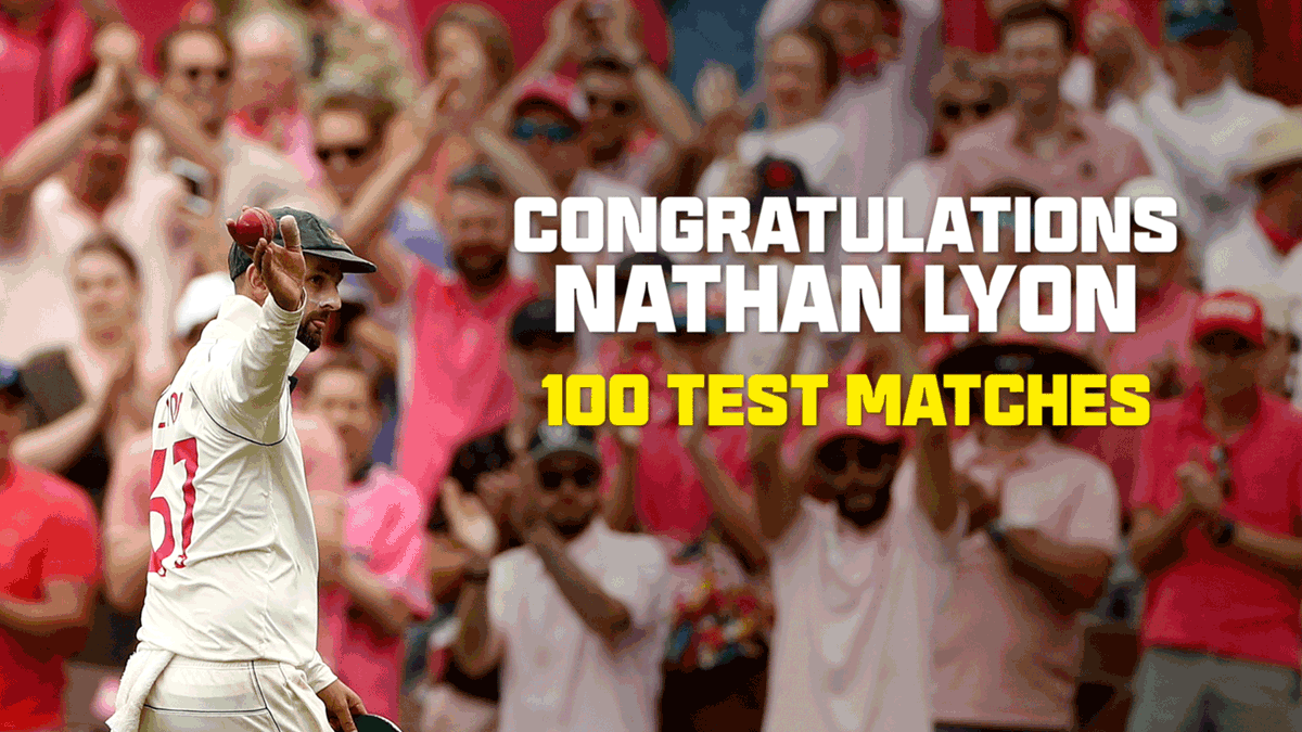 So much greatness in one video! 😍   The 12 men to have reached 100 Test matches for Australia share their reflections ahead of Nathan Lyon's 100th. Congratulations, @NathLyon421! 👏 #AUSvIND