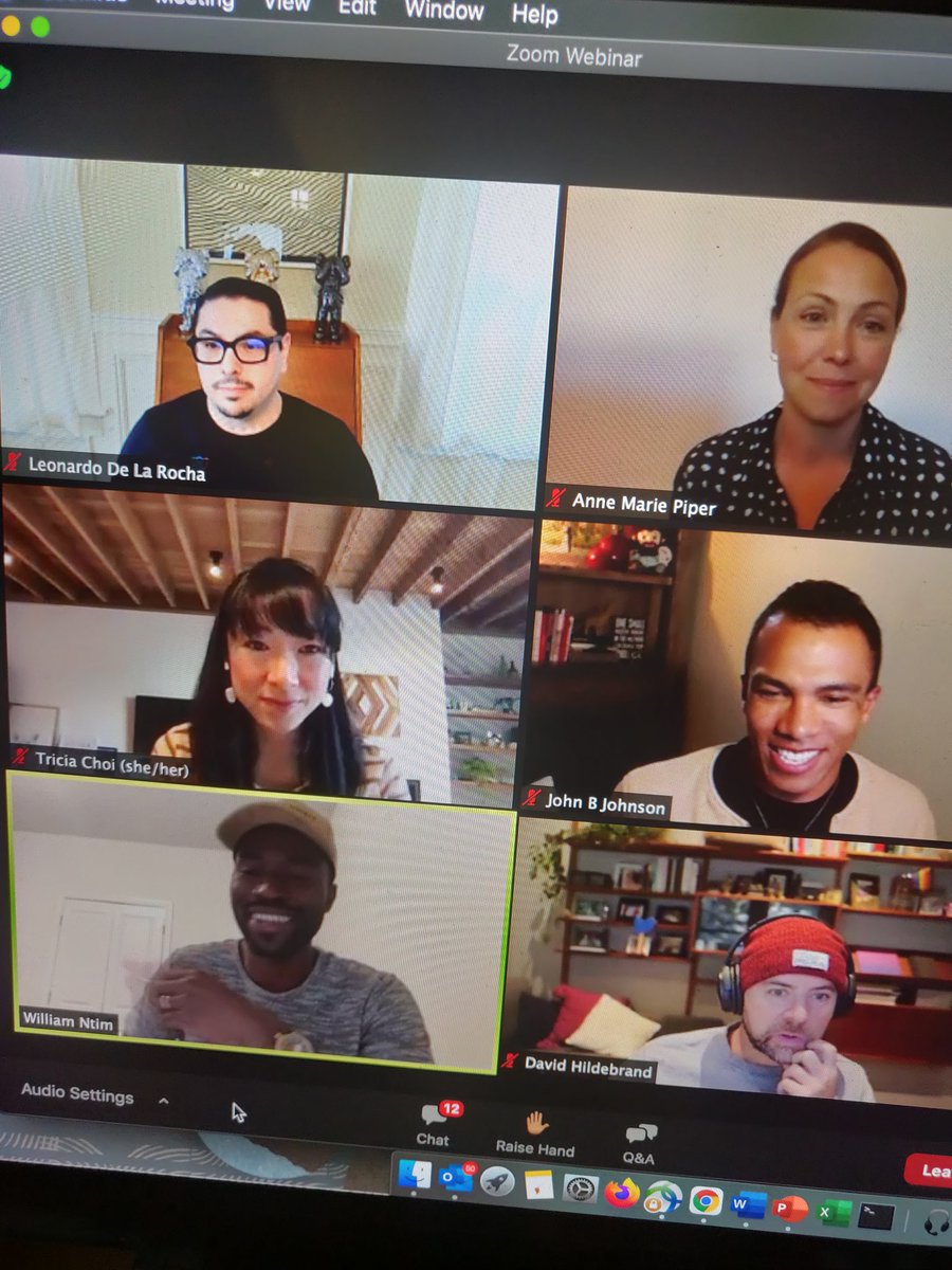Past midnight in #London & I'm on an inspiring zoom ❤️ @UCIrvine Presents: Exploring Design + Ethics 🎨⚖️  'Knowing yourself allows you act intentionally & with integrity' @delarocha @am_piper @choijoy @JohnBcreating @WilliamNtim & Twitter averse David Hildebrand #ThursdayMood✨