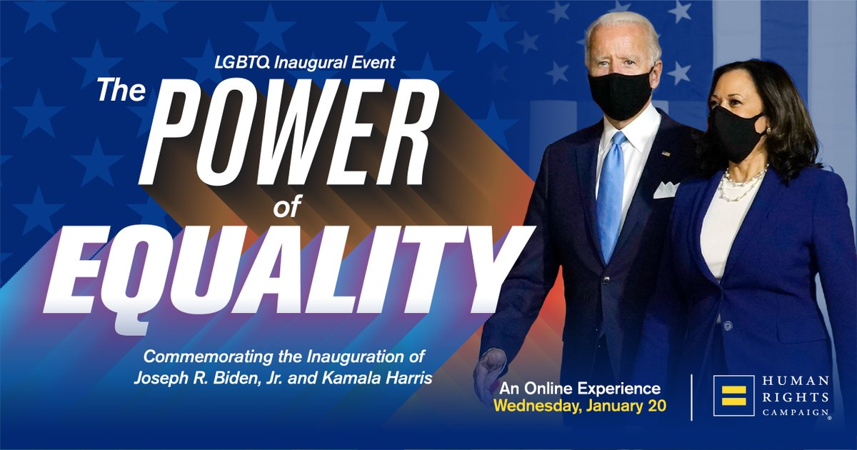 We've faced many challenges as a nation, but our shared commitment to equality will never falter. Sign up to join us on Inauguration Day as we commemorate the inauguration of Joe Biden and Kamala Harris.