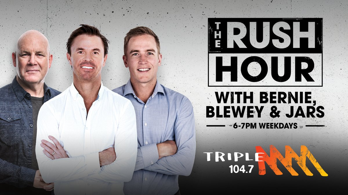 Greg Blewett will join Triple M Adelaide 104.7's The Rush Hour alongside Andrew Jarman and Bernie Vince.  Triple M Adelaide 104.7's The Rush Hour with Bernie, Blewey and Jars will debut Monday 18 January from 6pm weekdays.  Read more here: https://t.co/jujzwqHsFY https://t.co/8No8MRqG4G