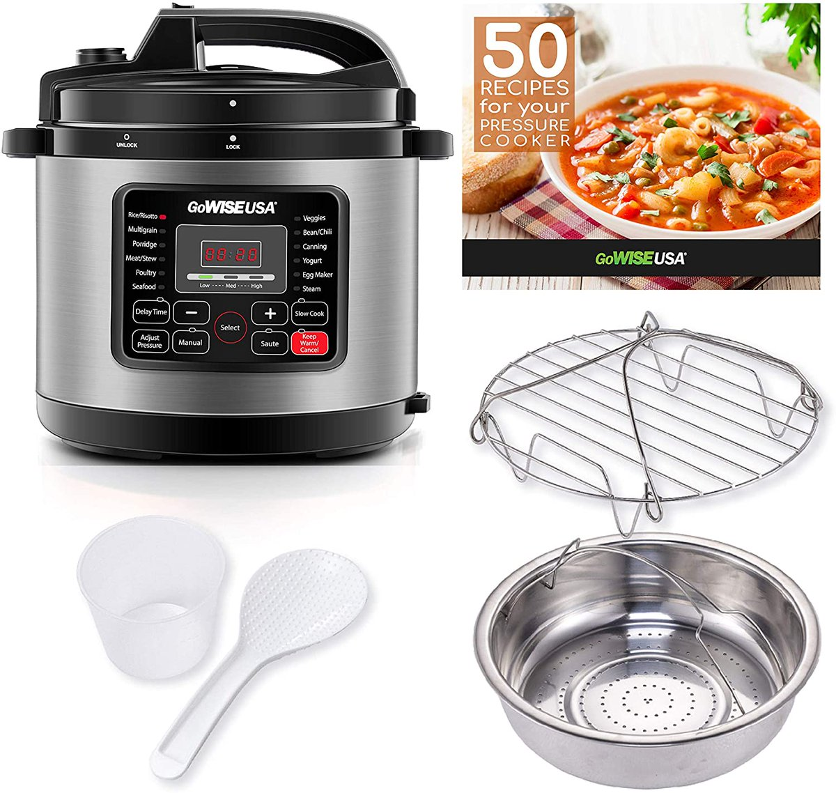 8-Quarts 12-in-1 Electric Pressure Cooker with Measuring Cup, Stainless Steel Rack & Basket  Price - $73.71  https://t.co/dHU82ARXKU  #cooking #giftideas #Sales #amazon #deals #NaughtiasDeals #bargains #electronics https://t.co/O9EXsVohBa
