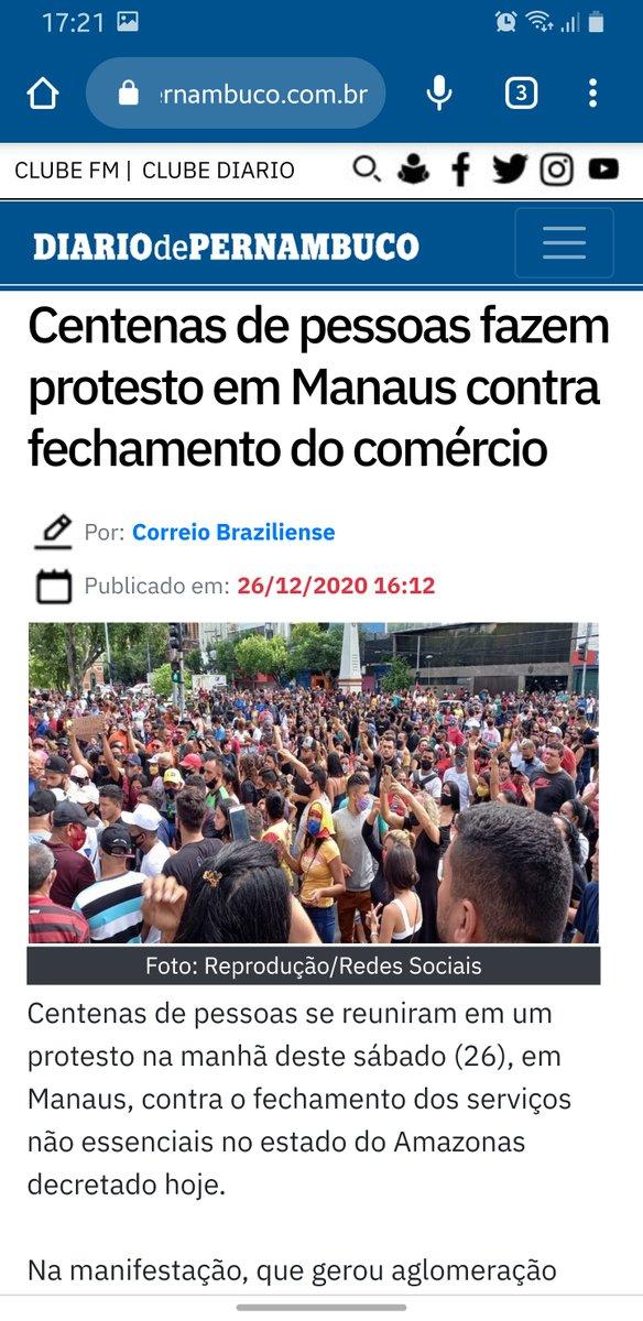 Tá faltando oxigênio em Manaus? Que tragédia. De quem será a culpa?