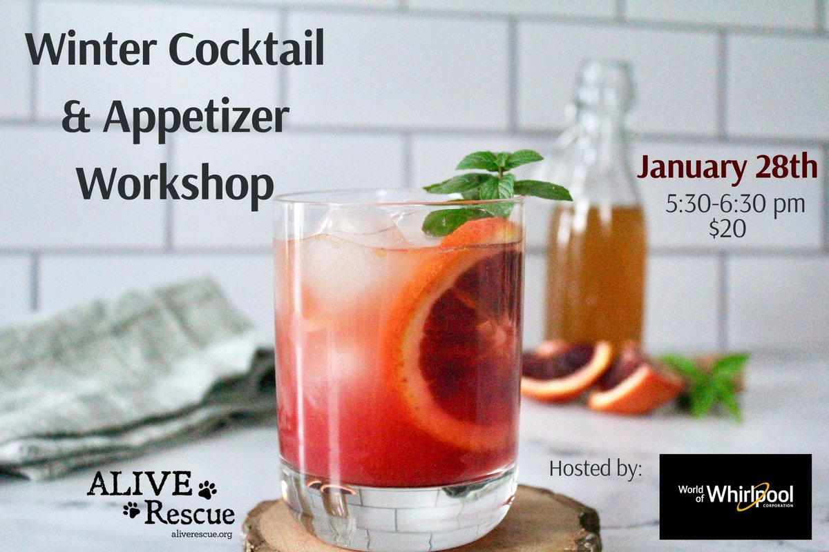 Join Us for our Winter Cocktails /Mocktails & Appetizer Workshop Hosted by World of Whirlpool!  Tickets: https://t.co/IVHsDY8E4T https://t.co/XrNKjF5rOp