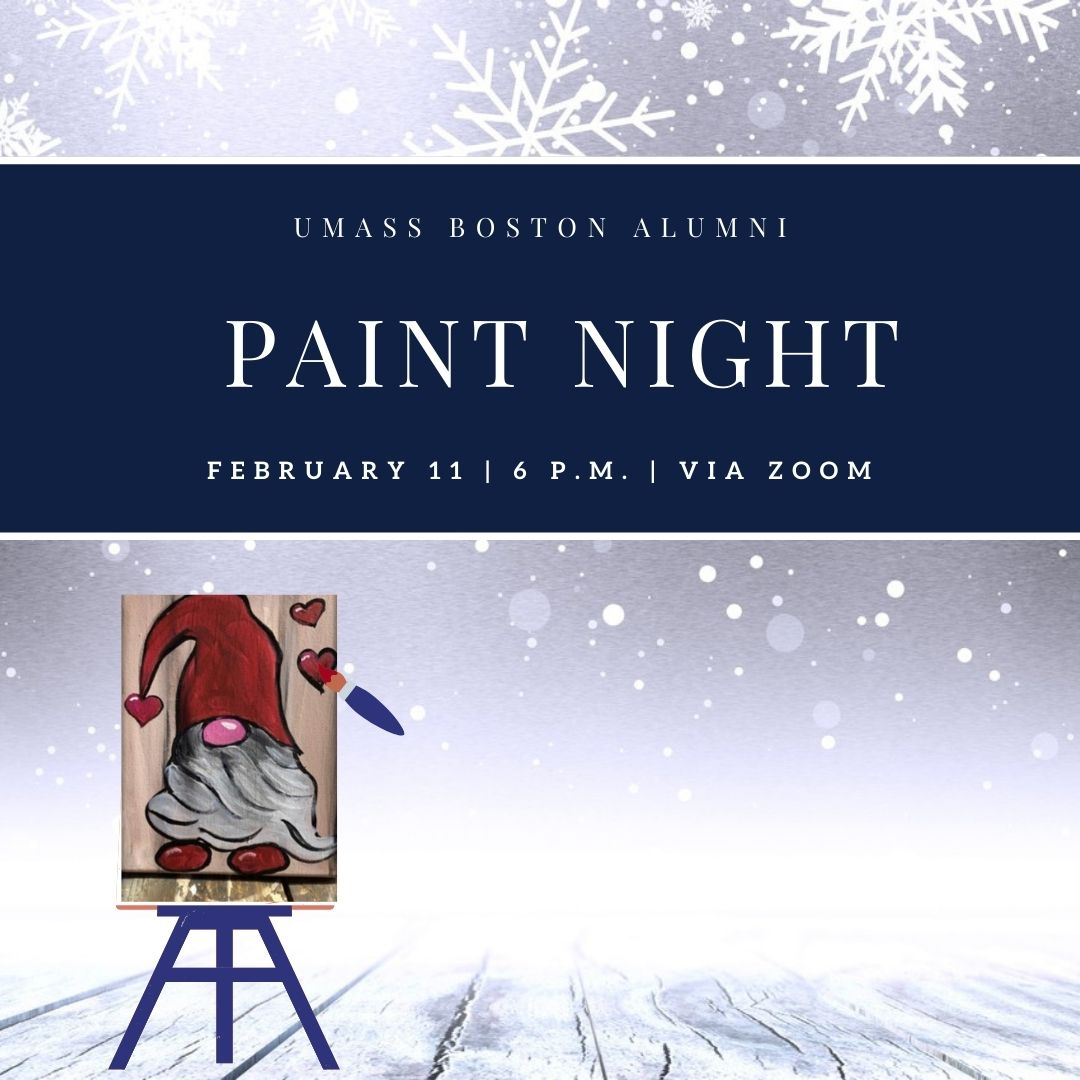 Tune in via Zoom on February 11 for a fun-filled evening of painting alongside fellow alumni! We'll provide you with everything you need to participate. Registration closes on Jan 29, so sign up today at  🎨