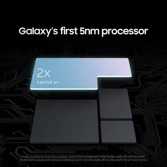 The fastest chip ever in Galaxy. #GalaxyS21 Ultra #SamsungUnpacked Learn more:
