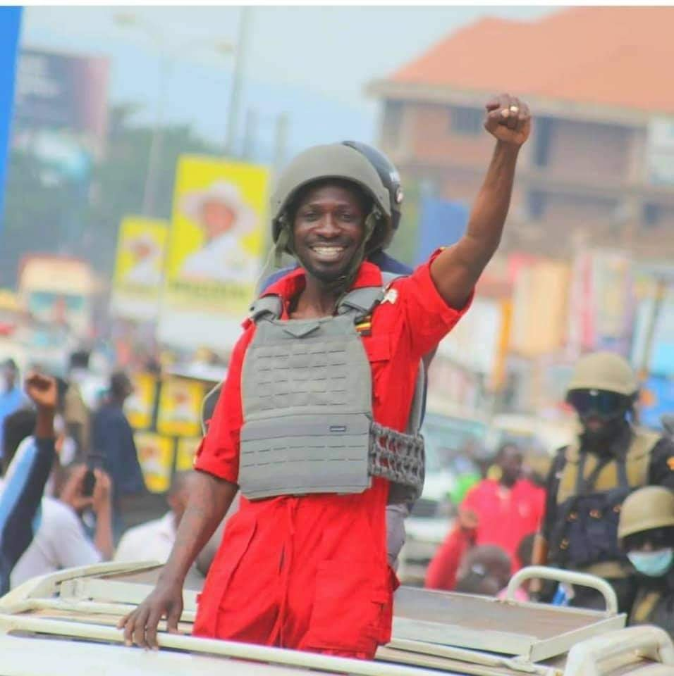 Our liberator and his wife  are under attack. The junta has ordered an attack on Bobi Wine. We can't afford to lose this gentleman. He has been our hope. Tell a friend to tell a friend that Uganda's only liberator's under attack from ex rebel's army. 🙏🏿 #WeAreRemovingADictator