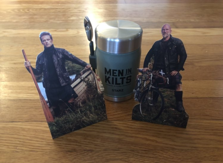 I'm ready for a Scottish adventure thanks to this awesome package from @STARZ for Men in Kilts, including some mini men in kilts! Premieres Feb. 14 with @SamHeughan and @grahammctavish. #MenInKilts