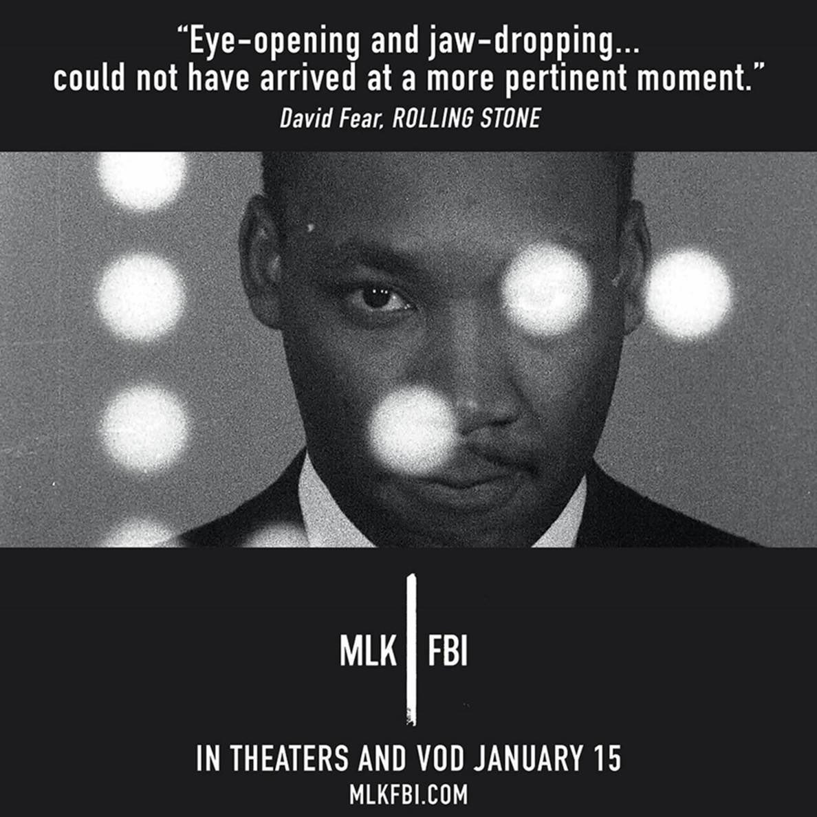 #MLKFBI @MLKFBI in Theaters & VOD January 15th    Official Selection: #Telluride Film Festival 2020 #Toronto International Film Festival 2020 #NewYork Film Festival 2020 Winner: Best Archival Documentary — 5th Annual Critics Choice Documentary Awards #MLK