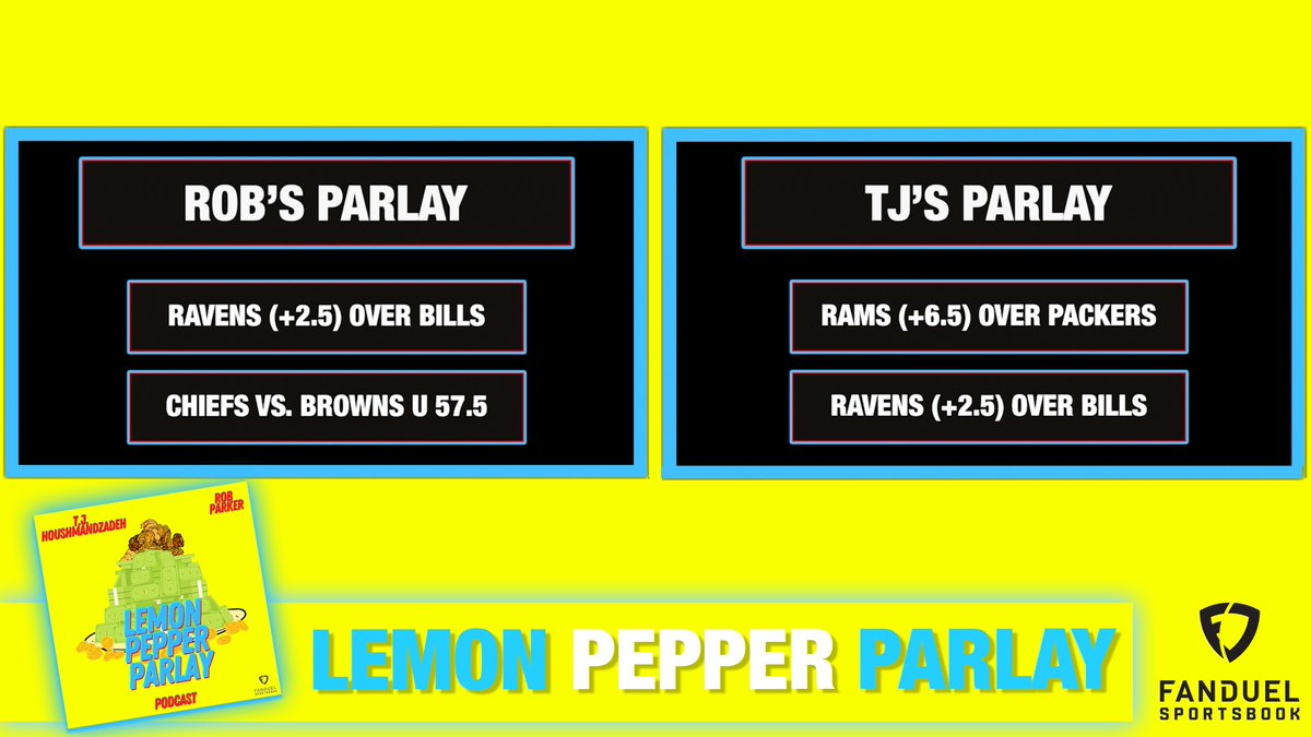 All eyes on the Ravens for this week's #LemonPepperParlay!  @RobParkerFS1 & T.J. Houshmandzadeh