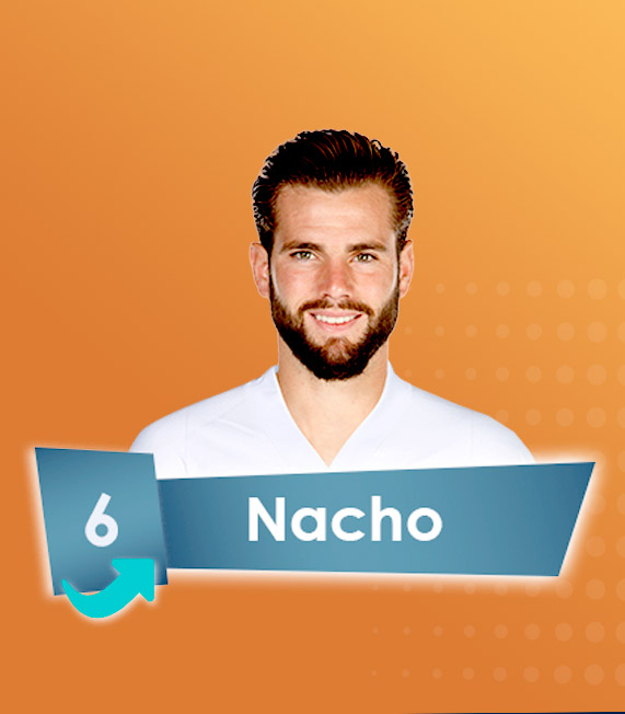 🔄 0-2 | Halftime substitution for @realmadriden:   @nachofi1990 ↔️ @raphaelvarane   #RMSuperCopa | #HalaMadrid