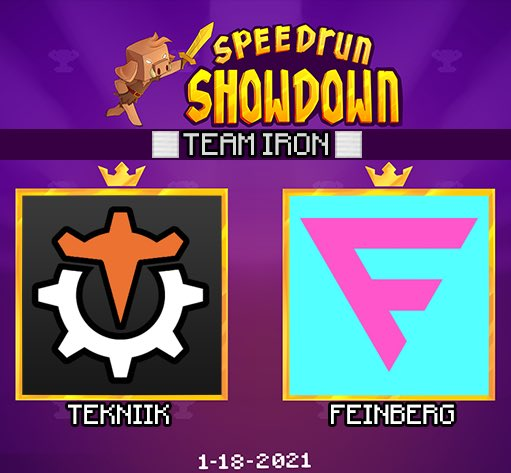 nerdi_tv - ANNOUNCING the next duo for Minecraft Speedrun Showdown: Team Iron featuring @tekniik_  & @feinberg_mc !