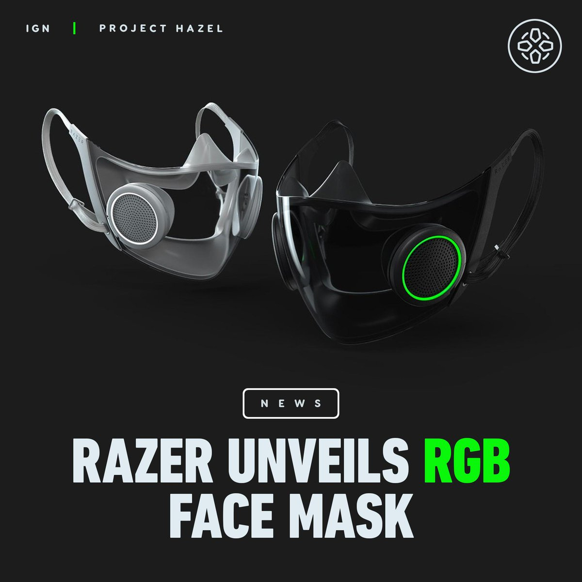 Razer revealed Project Hazel during CES 2021, a concept face mask with a N95 medical-grade respirator, transparent front panel,