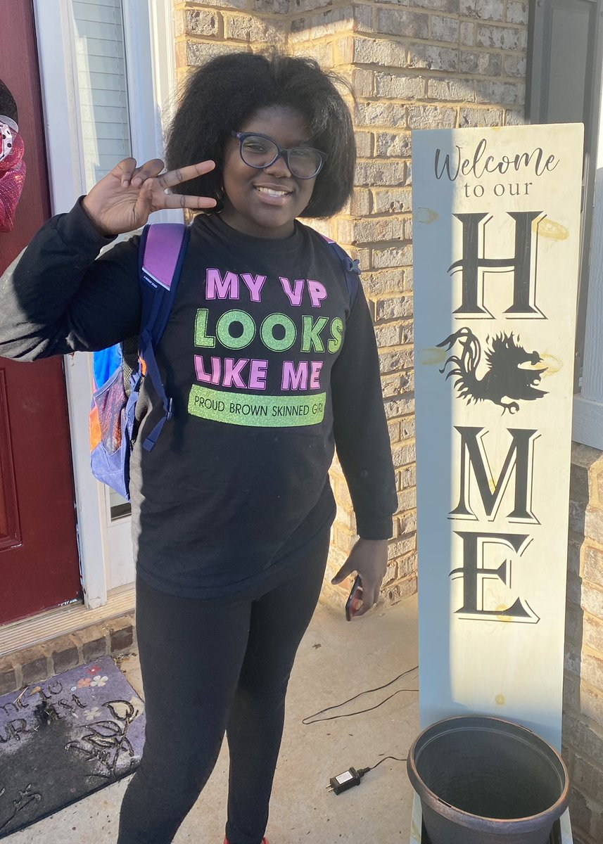 Replying to @MrCCollington78: My daughter couldn't wait until Inauguration Day to wear her shirt!