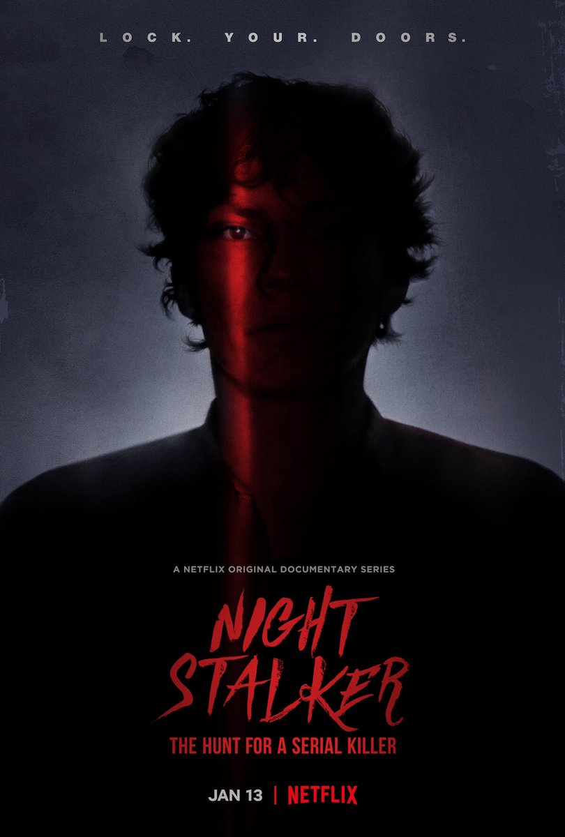 Night Stalker on @Netflix = first show in years to give me nightmares.   Total Los Angeles darkness.