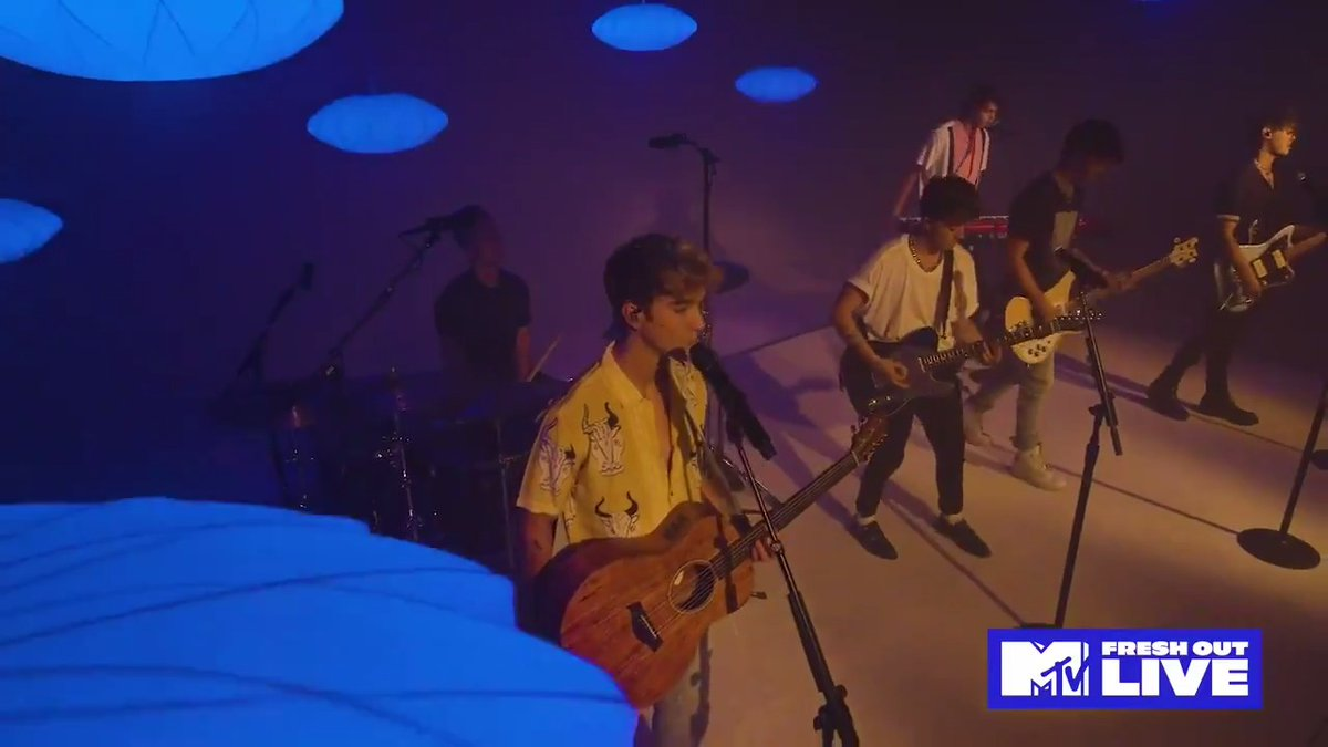"Replying to @mtvfreshout: .@whydontwemusic deliver a moody performance of ""Slow Down"" on #MTVFreshOut."