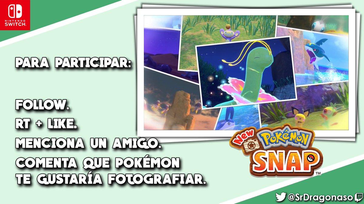 ✨¡SORTEO MUNDIAL DE UNA COPIA DE NEW POKÉMON SNAP!💫  ✘ Para participar: ✘  ✪ FOLLOW.👥 ✪ RT🔄+ LIKE.❤️ ✪ MENCIONA UN AMIGO.🗣️ ✪ 1 GANADOR.🏆  ¡Comentad que Pokémon os gustaría fotografiar y suerte!😎  Finaliza el lunes 1/03. +750 RT.💞  #NintendoSwitch #NewPokemonSnap