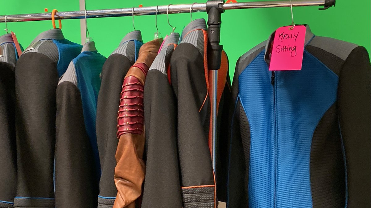 Season 3 wardrobe is ready to go. Which uniform would you be proud to wear? #TheOrville | Photo credit: @TomCostantino