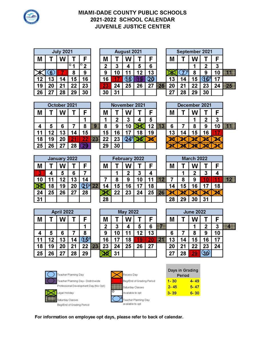 Images of School Calendar 2021 2022 Miami Dade