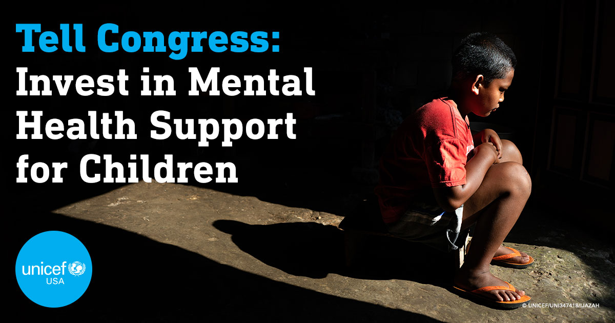 Even before #COVID19, 1 in 5 children and adolescents globally experienced some form of mental health condition. Now, young people's wellbeing is challenged like never before.  Call on Congress to invest in mental health support for children worldwide:
