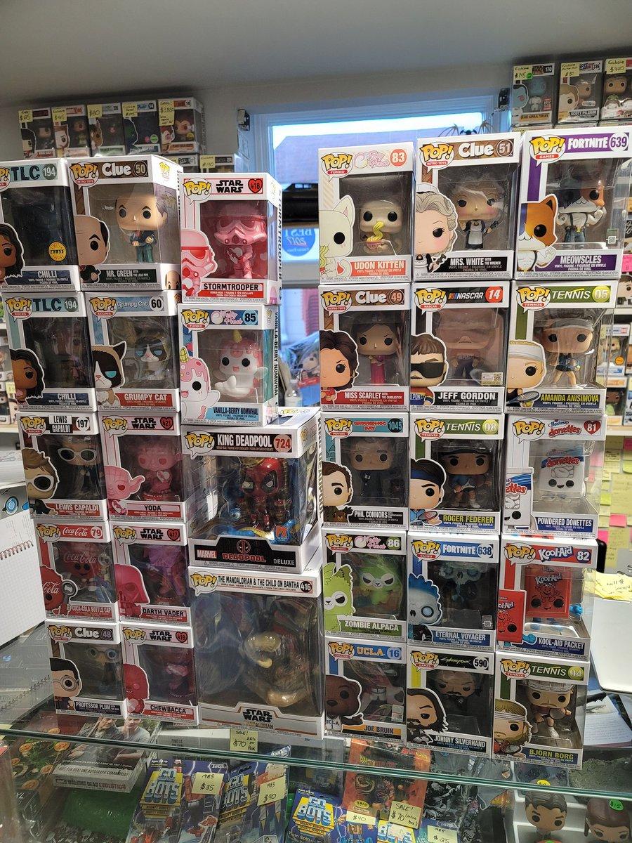New stuff in today! #funko #funkopop #popvinyl #exclusivepops #alternatedimensiontoys #originalfunko #newreleases #popshop #pops #chase #chasepop #6inchpop #starwars #themandalorian #fortnite #clue #lewiscapaldi #deadpool #adicons #cocacola #retrotoys #ValentinesDay2021 https://t.co/LAOWFPUo6N