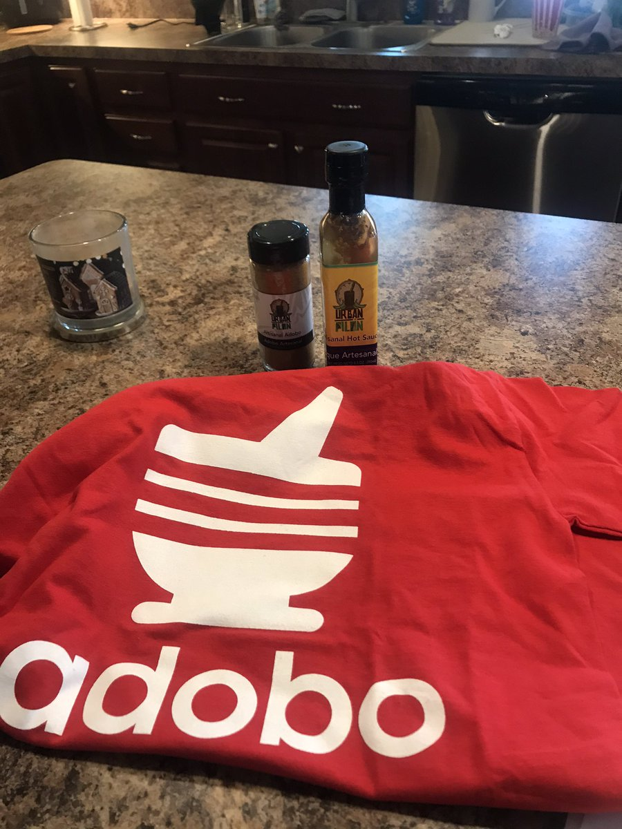 Got my yummy #adobo y #pique from #urbanpilon Jonas wanted some 🇵🇷 swag - can't wait to try it