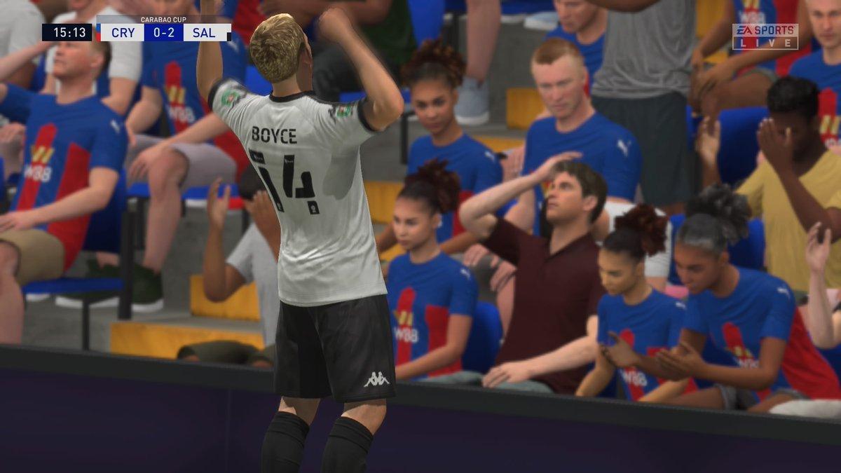 El humilde Salford derrotando al Crystal Palace #CarabaoCup 3ra ronda