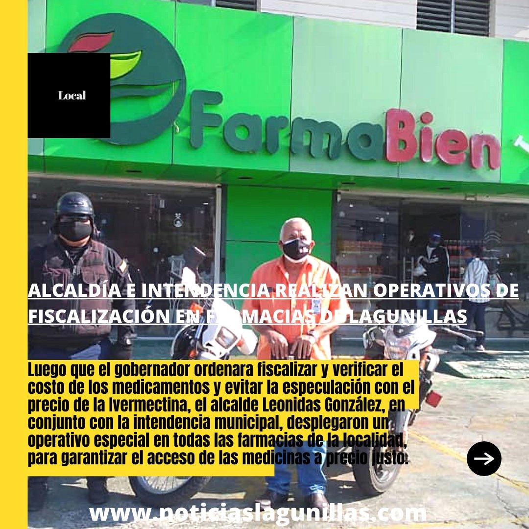 Alcaldía e Intendencia realizan operativos de fiscalización en farmacias de Lagunillas para verificar precio justo de los medicamentos  Amplía la información en nuestra página web   #Lagunillas #CiudadOjeda #Farmacias #Medicamentos #Operativo #Especulacion #Ivermectina