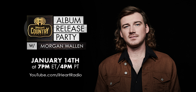 Don't miss Morgan's @iHeartCountry Album Release Party tonight! Watch the show at 7pm ET only on ! #iHeartMorganWallen #DangerousDoubleAlbum –– Team MW