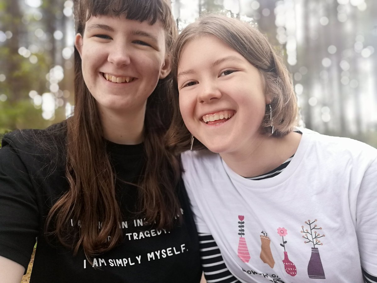 """#MakeAbleistsUncomfortable My girlfriend is not a hero or saint for dating me. She hasn't """"settled"""" for me, and she isn't my carer either. I take care of her and she takes care of me - that's just how relationships work!  Disabled people are worthy of love."""