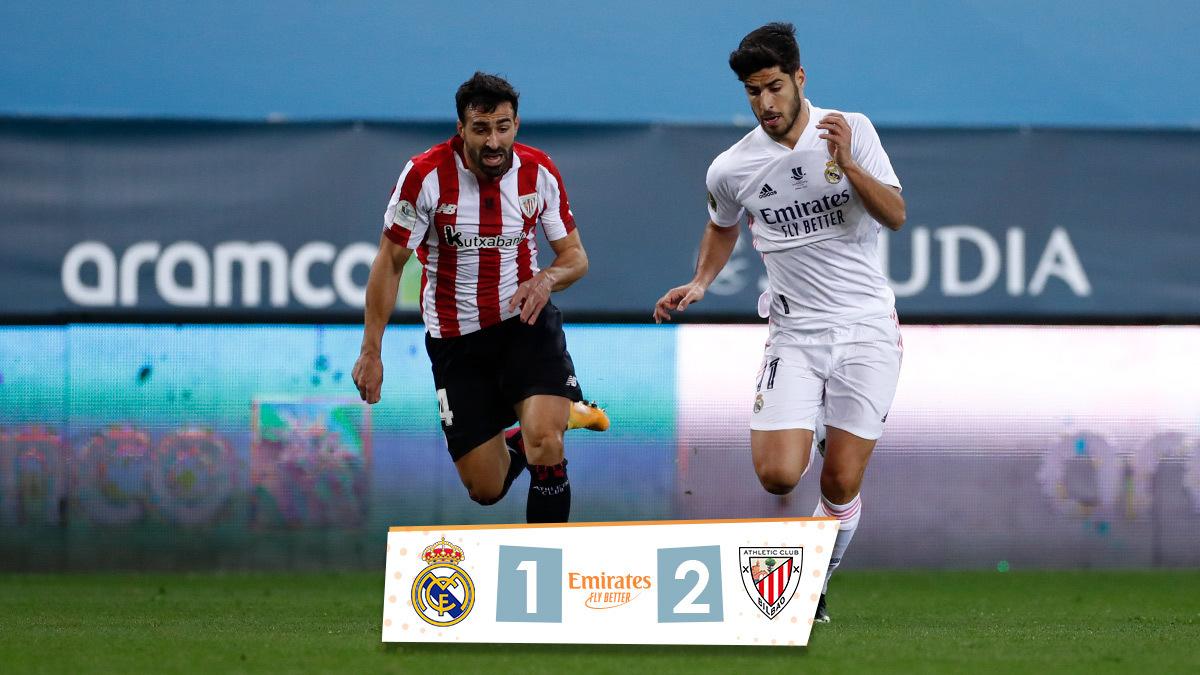 🏁 FP: @realmadrid 1-2 @AthleticClub ⚽ @Benzema 73'; Raúl García 18', 38' (p) #RMSuperCopa | #Emirates