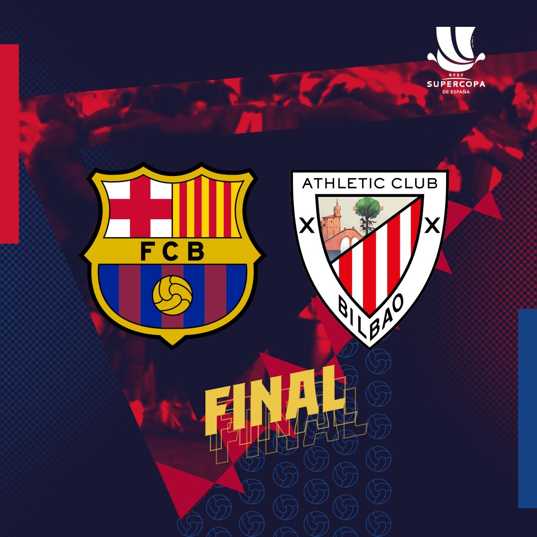 ❗ L'@AthleticClub serà el nostre rival en la final de la Supercopa de Sevilla!  📅 Diumenge, 17 de gener ⏰ 21 hores  🔵🔴 #SupercopaBarça