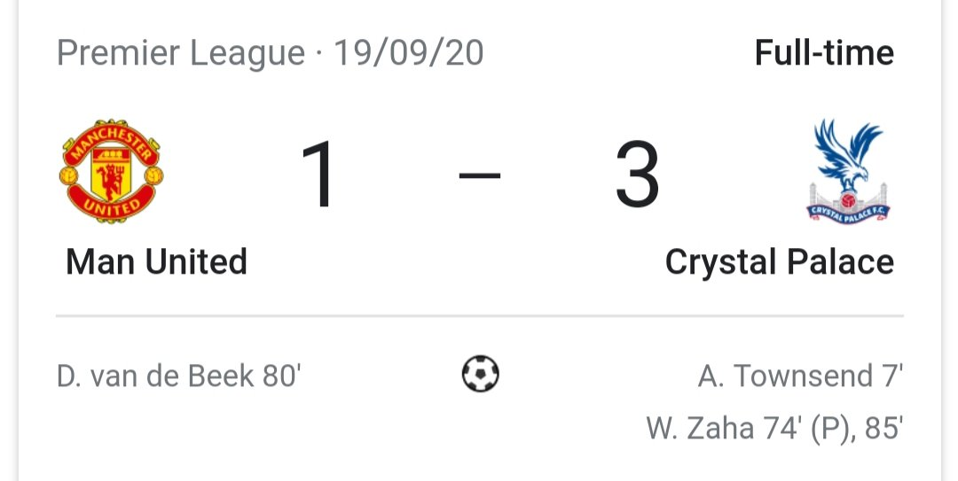 Replying to @UTDTrey: Scoring against Crystal Palace isn't for everyone.