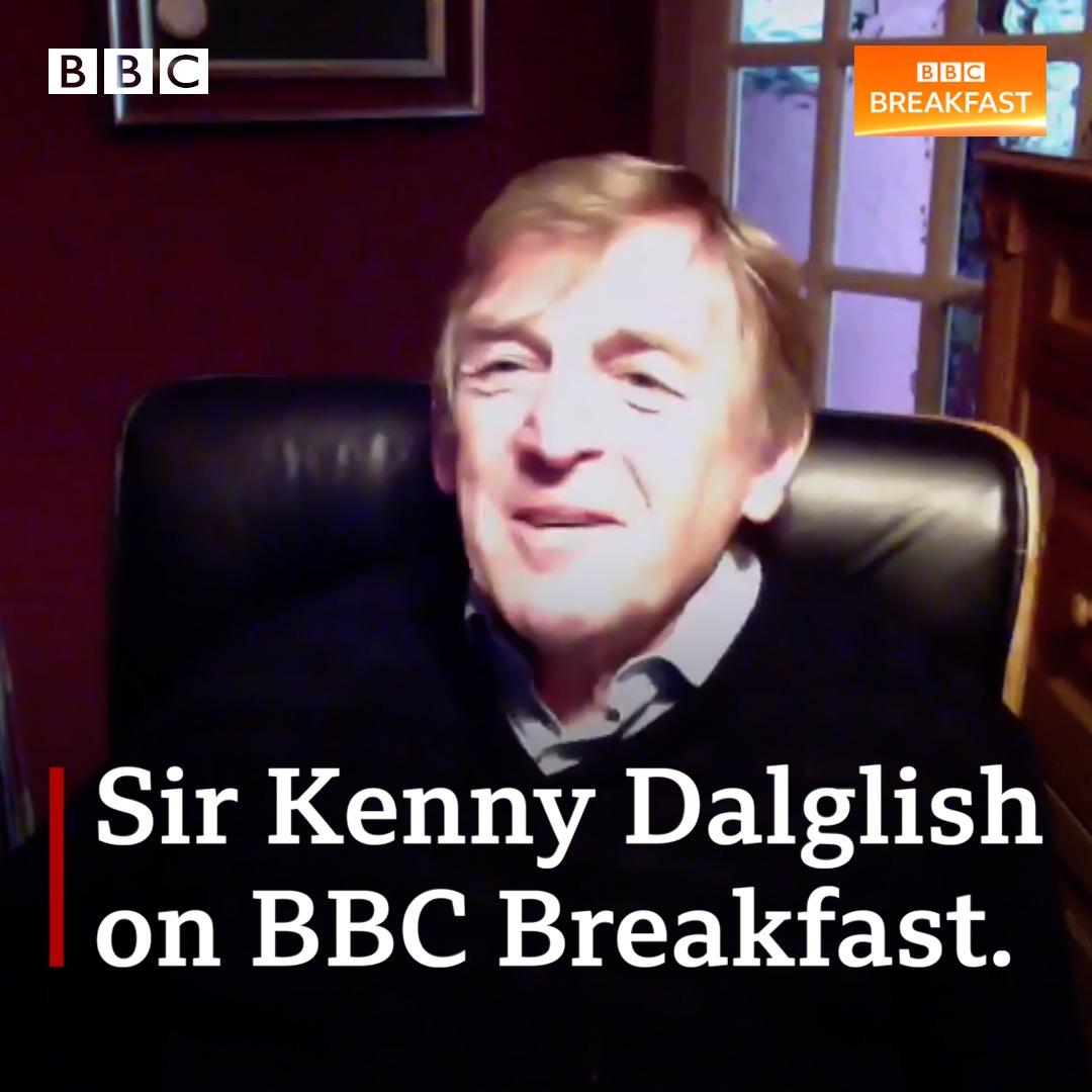 Liverpool legend Sir Kenny Dalglish talks dementia in football, Sir Alex Ferguson and Marcus Rashford on #BBCBreakfast #LFC. He'll appear alongside the former #MUFC boss, Jurgen Klopp and Gareth Southgate at an event later today ⬇️