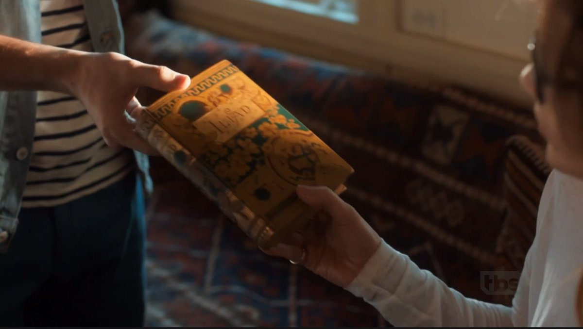 "Just sitting here thinking about when ""The Boy Next Door"" gives J.LO a ""first edition"" copy of the ancient text The Illiad."