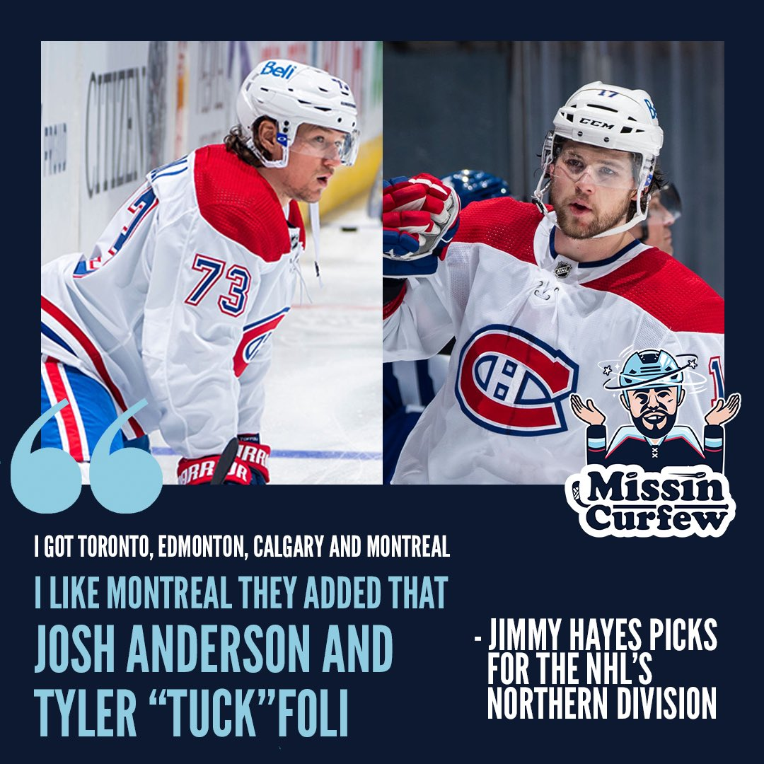 """Broadway likes Montreal in North now that they added Josh Anderson and Tyler """"Tuck""""foli   @MissinCurfew @Jimmy10Hayes"""