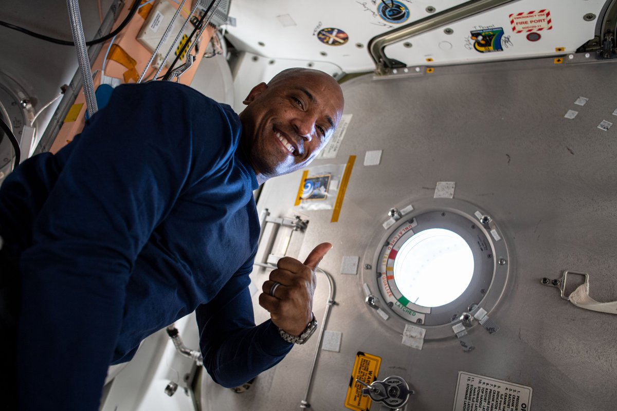 Join us live from the International @Space_Station tomorrow, Jan. 15, at 9:50am ET, to catch a discussion with one of our residents in microgravity @AstroVicGlover and quarterback Joshua Dobbs of the Pittsburgh @steelers!  📺