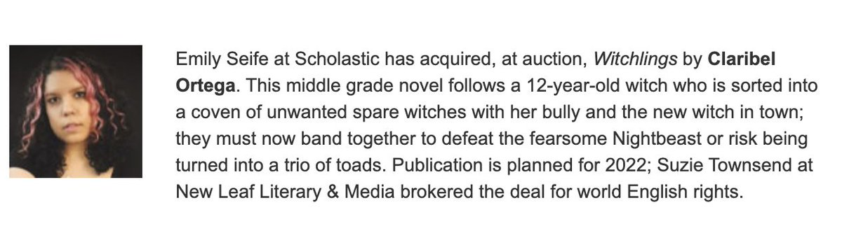 HI EVERYONE I am SO EXCITED because I can finally share that my book ✨WITCHLINGS✨ about outcast witches being sorted into an unwanted coven & having to defeat an ugly monster called The Nighteast is coming next year! Add it on goodreads at  🧙🏼♀️🔮🐸⭐️