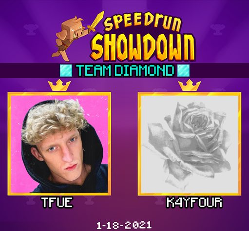 nerdi_tv - ANNOUNCING the next duo for Minecraft Speedrun Showdown: Team Diamond featuring @TTfue  & @k4yfour !
