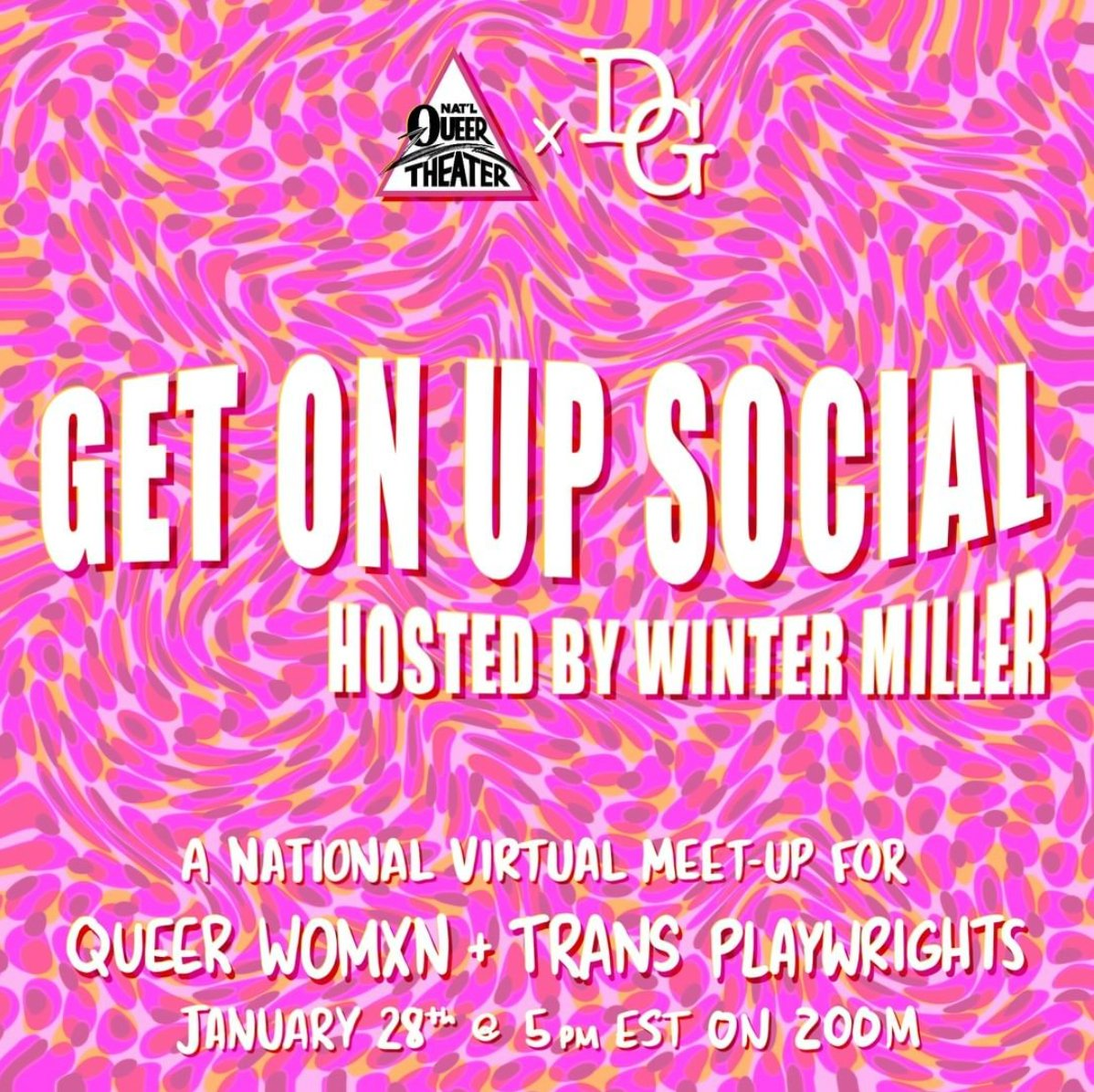Are you a #Queer femme or #Trans playwright? Do you want to meet other writers like yourself and talk shop (and whatever else comes to mind)? Sign up for GET ON UP SOCIAL hosted by #NQT and @dramatistsguild ! Learn more here: https://t.co/v160RosmLW https://t.co/VppEREEmva