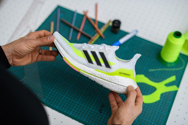 Can't wait to run in the new #UltraBOOST 21 🔋⚡️   Interesting insight from @adidasrunning creative director Sam Handy: