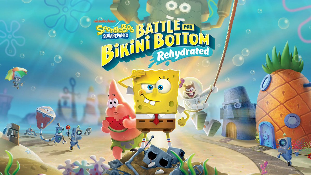 is this the Krusty Krab?  no, this is SpongeBob SquarePants: Battle for Bikini Bottom - Rehydrated Mobile!  📱 coming 1/21 📱