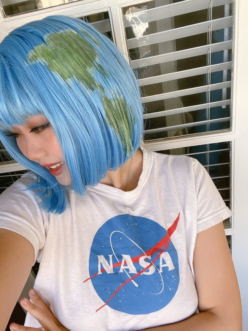 2 pic. My proudest thing I ever made for cosplay was this Earthchan wig, which I spent a really long