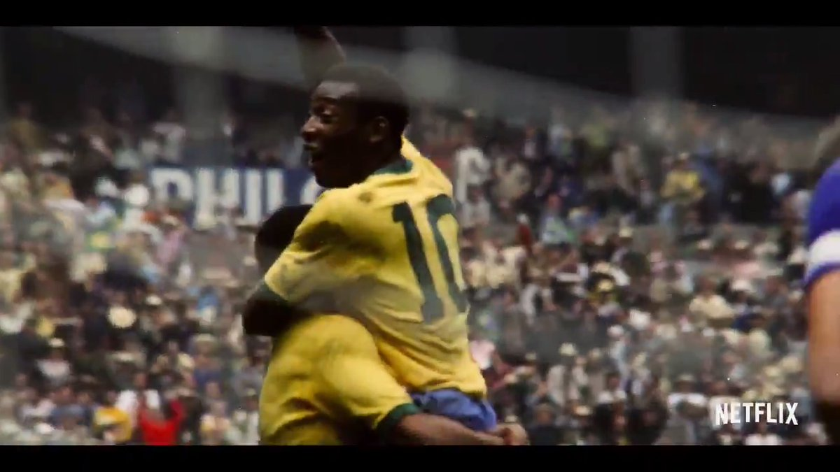 PELÉ, a documentary from directors David Tryhorn and Ben Nicholas, tells the story of the legendary footballer and only man to win three World Cup titles.  On Netflix globally February 23 ⚽️