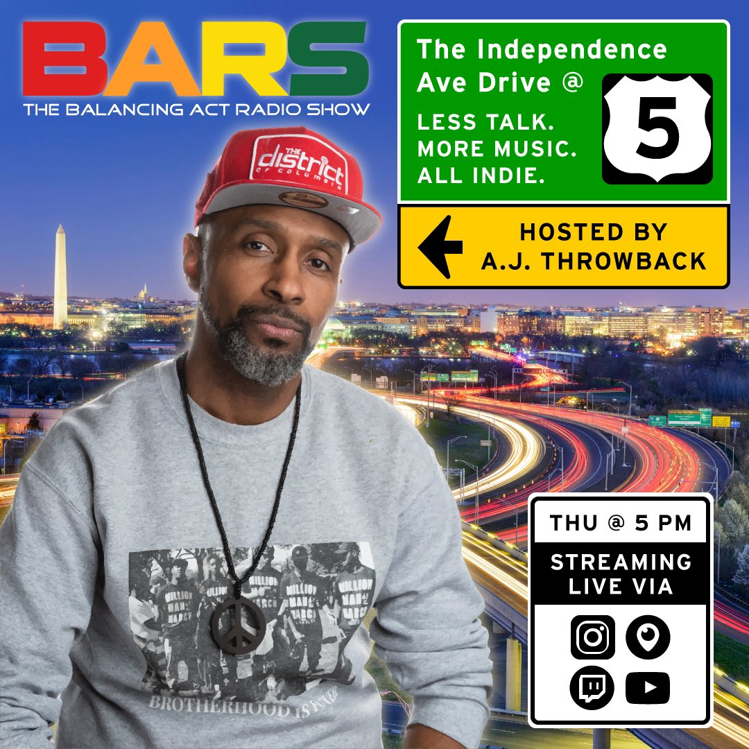 🚨NEW SHOW🚨!!! PLZ check out 'The Independence Avenue Drive at Five' w/ @AJThrowback Thursdays starting Feb 4th #livestreaming on our pages/channels via #instagramlive x #Periscope x #twitchtv x #YouTubeLive 🔥🔥🔥🔥🔥!!! #TeamBARS❤️🧡💛💚 #rushhour #mixshow #hiphop #soulmusic