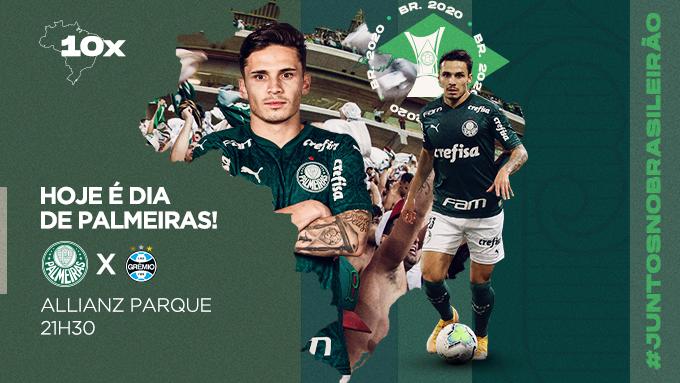 Sexta-feira do jeito que a gente gosta: com mais um desafio em casa pelo Brasileirão! HOJE É DIA DE PALMEIRAS! 🟢⚪️  #AvantiPalestra #PALxGRE #JuntosNoBrasileirão