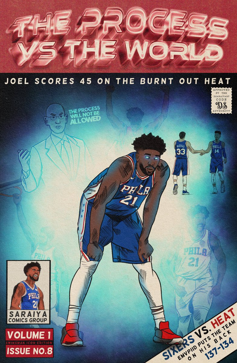 You cannot guard him. You cannot stop him. You can only hope to contain him.   Win no. 8 😤  #theyhatetheprocess  #HereTheyCome   @JoelEmbiid
