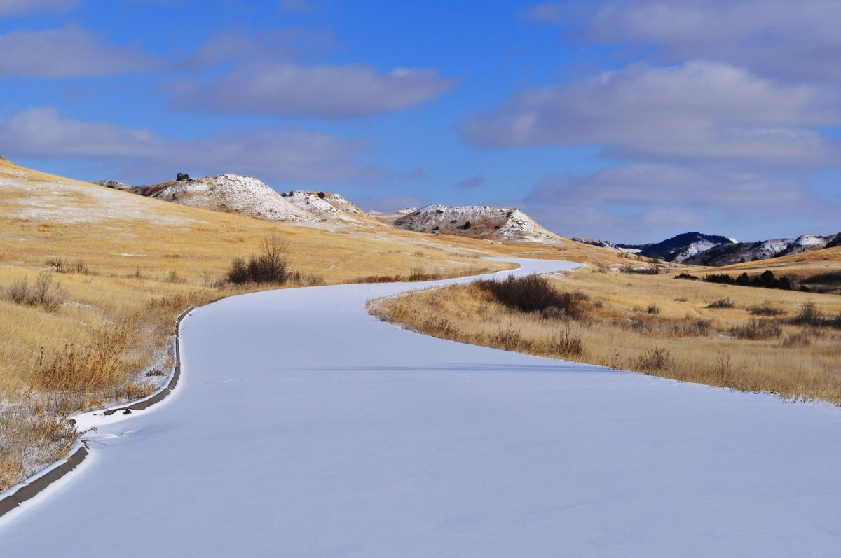 A quiet, undisturbed snow-covered path is an invitation to adventure and exploration. Will you answer the call?  #FridayPhoto #PlotYourPath #NewYearNewAdventure  📷/NPS @TRooseveltNPS