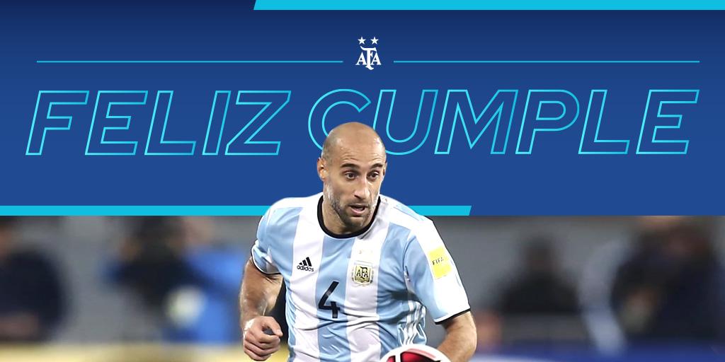 #SaludoAlbiceleste 🇦🇷 Pablo Zabaleta, ex jugador de la Selección @Argentina, cumple 36 años. ¡Felicidades! 👏👏